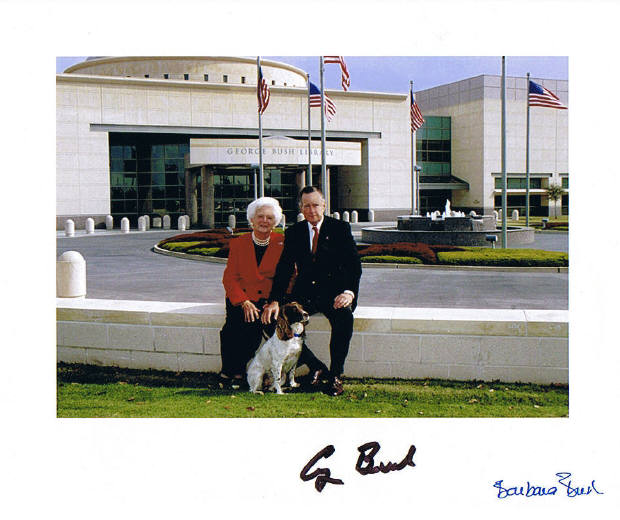 George & Barbara Signed Photo