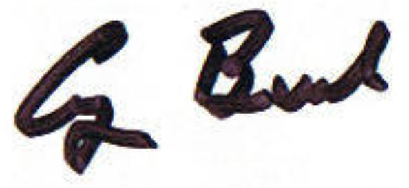 George Bush - Signature Close-Up