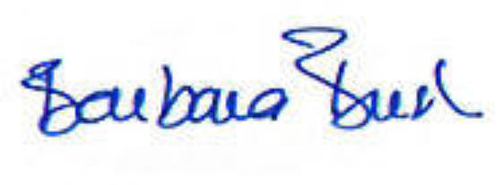Barbara Bush - Signature Close-Up
